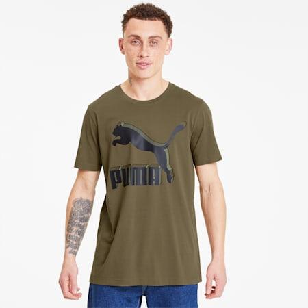 Classics Logo Herren T-Shirt, Burnt Olive, small
