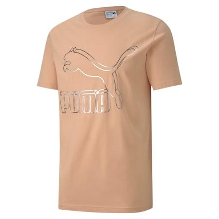 Classics Logo Men's Crew Neck T-Shirt, Pink Sand, small-IND