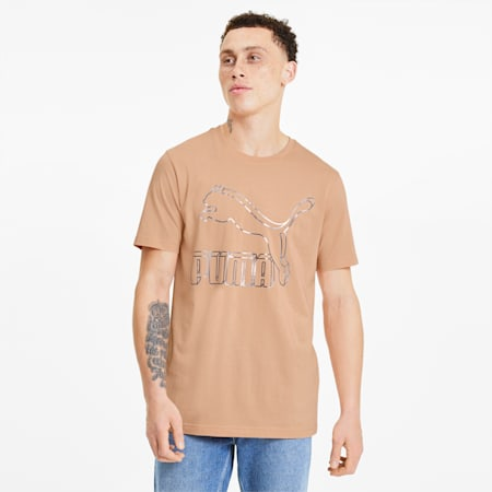 Classics Men's Logo Tee, Pink Sand, small