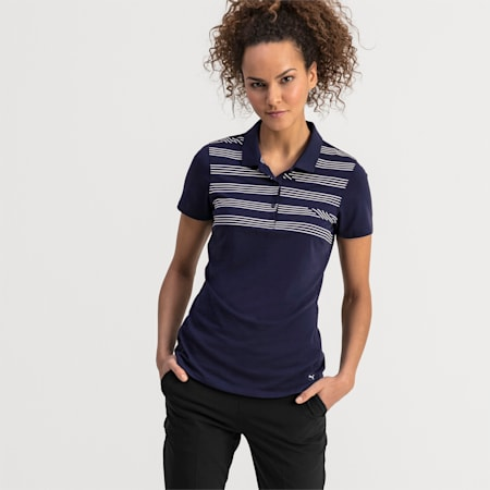 On Par Damen Golf Polo, Peacoat, small