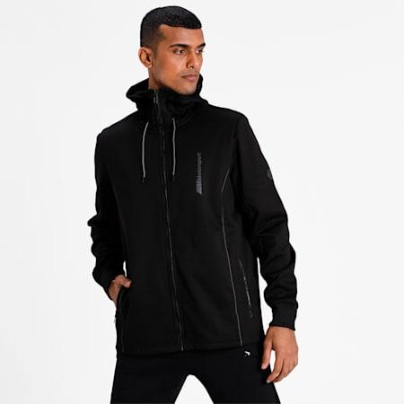 BMW M Motorsport Life Men's Sweat Jacket, Puma Black, small-IND