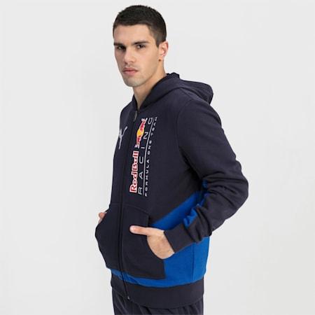 RBR Logo Hooded Men's Sweat Jacket, NIGHT SKY, small-GBR