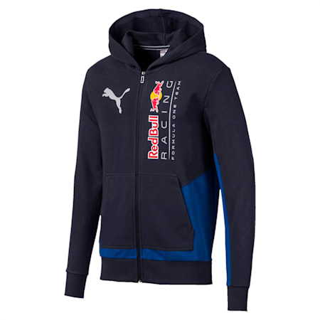 Red Bull Racing Logo Hooded Men's Sweat Jacket, NIGHT SKY, small-IND