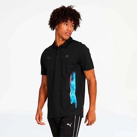 Camiseta estampada tipo polo BMW M Motorsport Life para hombre, Puma Black, pequeño