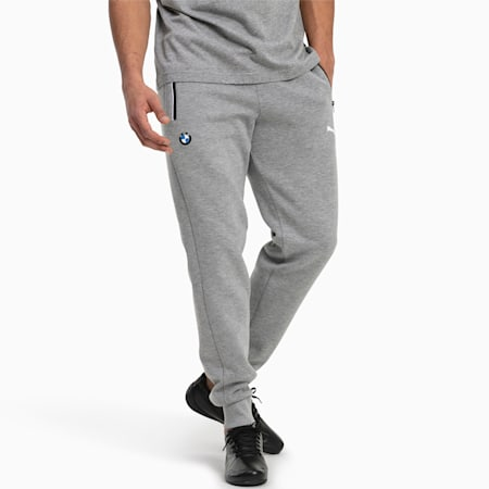 BMW M Motorsport Knitted Men's Sweatpants, Medium Gray Heather, small