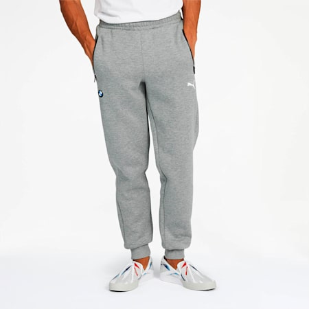BMW M Motorsport Men's Sweatpants, Medium Gray Heather, small
