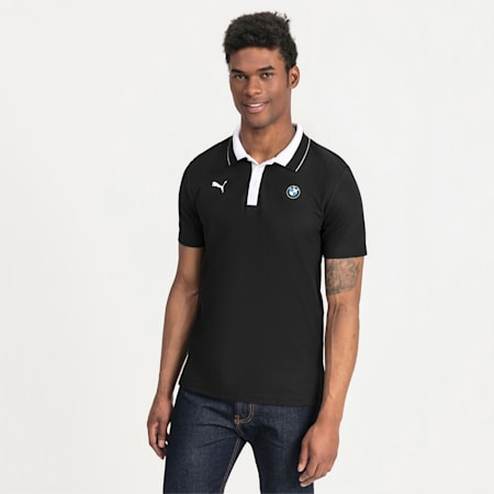 BMW M Motorsport Men's Polo Shirt, Puma Black, small