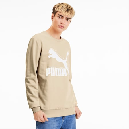 Classics Logo Crew Men's Sweater, Tapioca, small