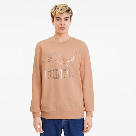 Classics Logo Men's Crewneck Sweatshirt, Pink Sand, small
