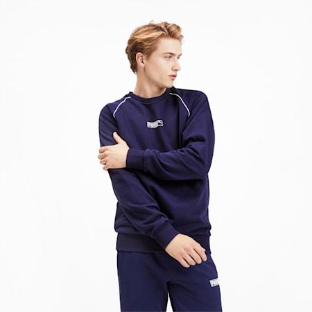 Classics Men's No. 2 Logo Crewneck Sweatshirt, Peacoat, small