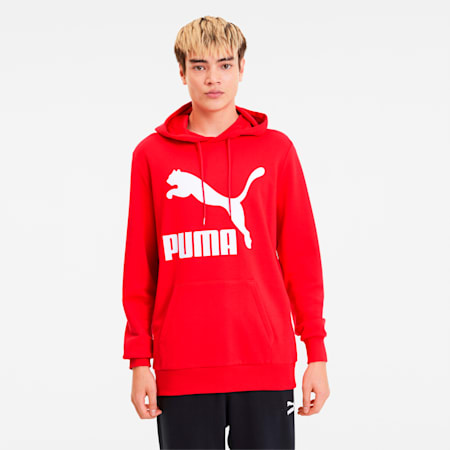 Classics Men's Logo Hoodie, High Risk Red, small