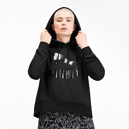 Classics Women's Logo Hoodie, Puma Black, small