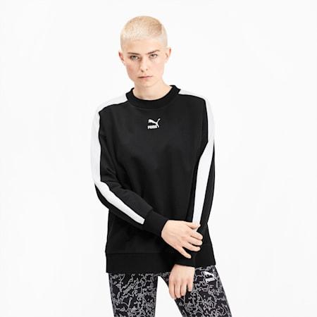Classics T7 Crew Neck Women's Sweater, Puma Black, small-SEA