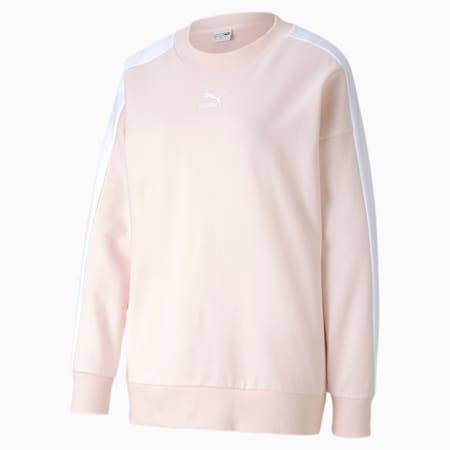 Classics T7 Crew Neck Women's Sweater, Rosewater, small-SEA