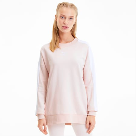 Classics T7 Crew Neck Women's Sweater, Rosewater, small-SEA