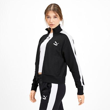 Classics T7 Women's Track Jacket, Puma Black, small-GBR