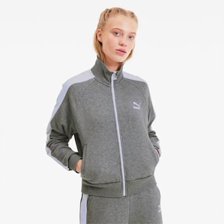 Classics T7 Women's Track Jacket, Medium Gray Heather, small