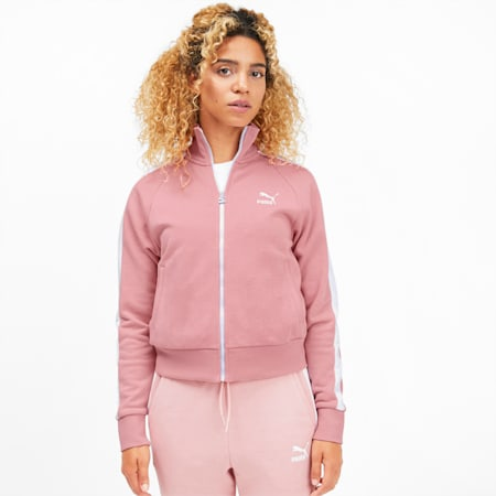 Classics T7 Women's Track Jacket, Bridal Rose, small-SEA