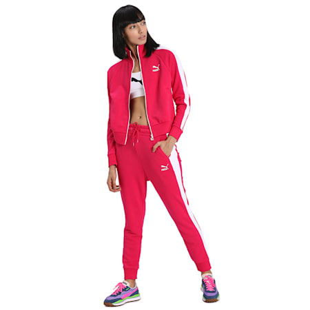 Classics T7 Women's Track Jacket, BRIGHT ROSE, small-IND