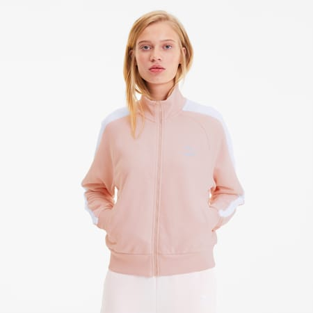 Track jacket T7 Classics donna, Rosewater, small
