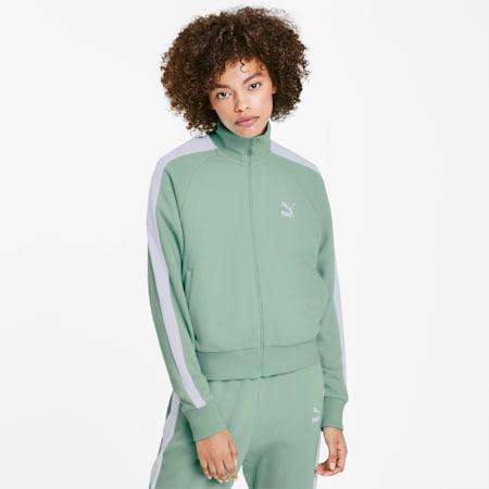 Track jacket T7 Classics donna, Mist Green, small