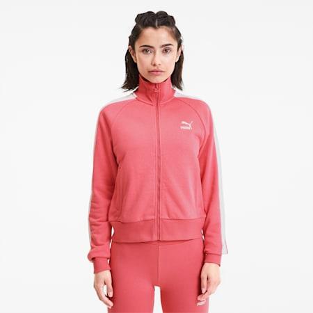 Track jacket T7 Classics donna, Bubblegum, small