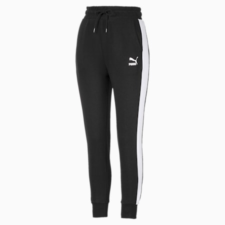 Classics T7 Knitted Women's Track Pants, Puma Black, small-SEA
