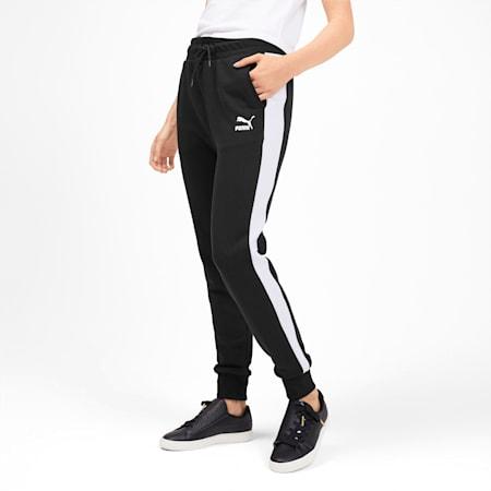 Pantalon de survêtement tricoté Classics T7 pour femme, Puma Black, small