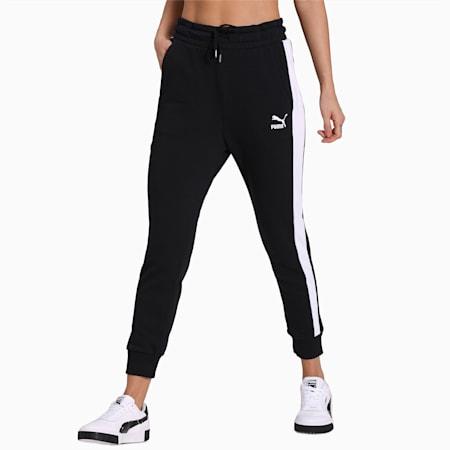 Classics T7 Knitted Women's Track Pants, Puma Black, small-IND