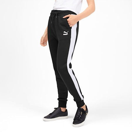 Classics T7 Knitted Women's Track Pants, Puma Black, small-SEA