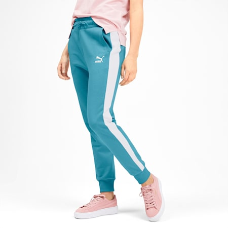 Classics T7 Knitted Women's Track Pants, Milky Blue, small-IND