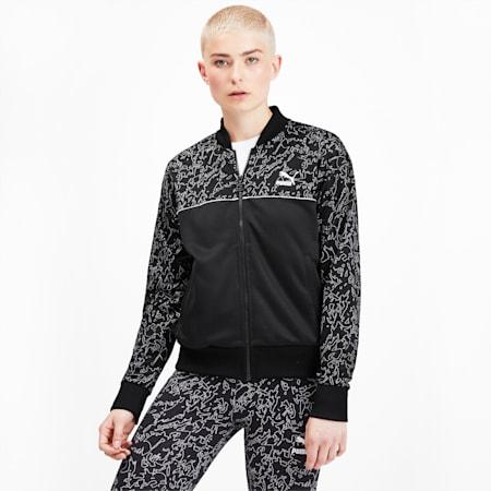 Classics Women's AOP Track Jacket, Puma Black, small