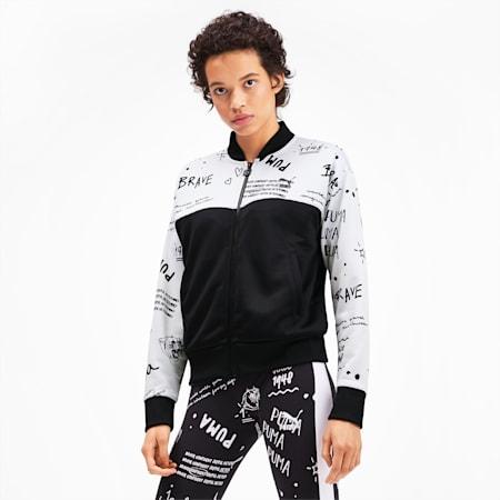 Full Zip Women's Track Jacket, Puma White-2, small-SEA