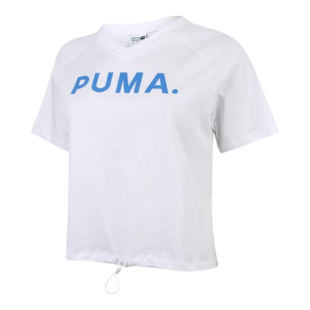 Chase V-neck Women's Tee, Puma White, small-SEA