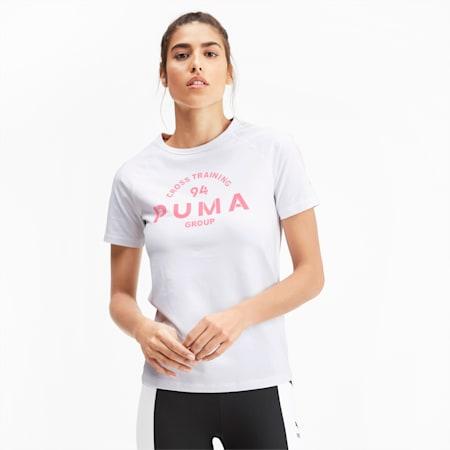 PUMA XTG Graphic Short Sleeve Women's Top, Puma White, small-IND