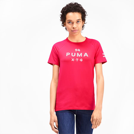 PUMA XTG Women's Graphic Top, Nrgy Rose, small