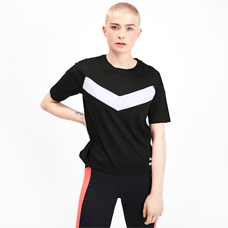 PUMA XTG Colour-Block Women's Tee, Puma Black, small-SEA