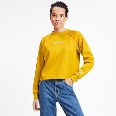 PUMA XTG Women's Crewneck Sweatshirt, Sulphur, small