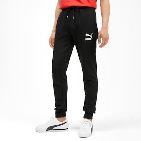 Classics Knitted Men's Sweatpants, Puma Black, small-IND