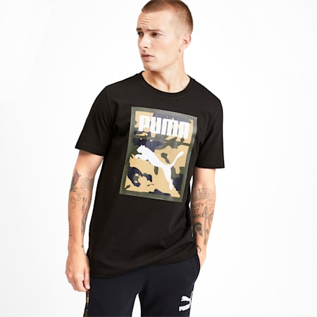 Classics Men's Graphic Tee, Puma Black, small