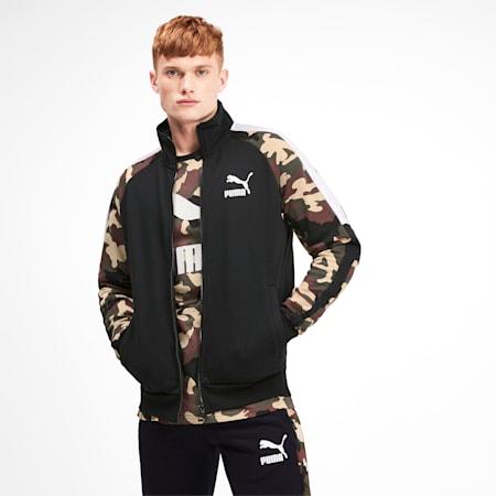 T7 Men's AOP Track Jacket, Puma Black, small