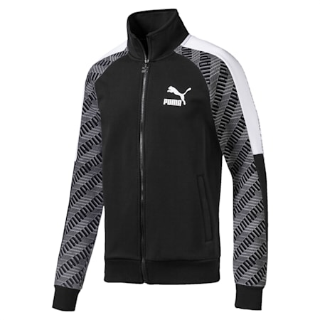 T7 All-Over Printed Men's Track Jacket, Puma Black-Repeat logo, small-IND
