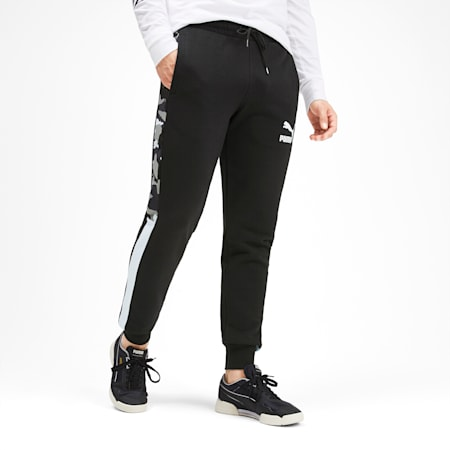 T7 Men's AOP Track Pants, Puma Black, small