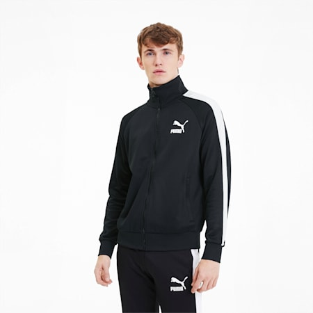 Iconic T7 Men's Track Jacket, Puma Black, small-IND