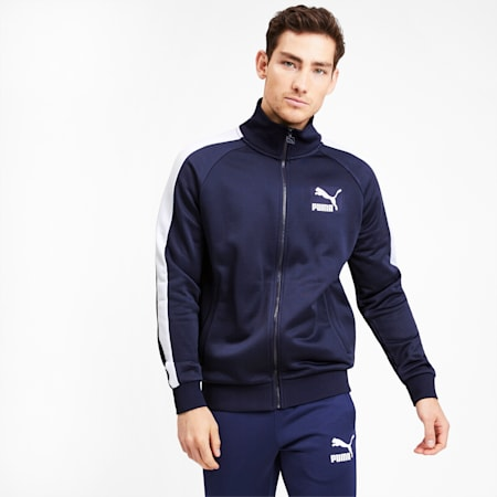 Iconica track jacket T7 uomo, Peacoat, small