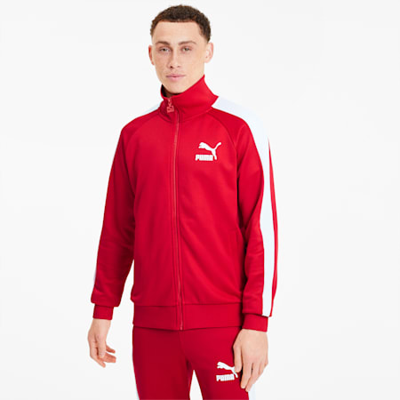 Iconica track jacket T7 uomo, High Risk Red, small