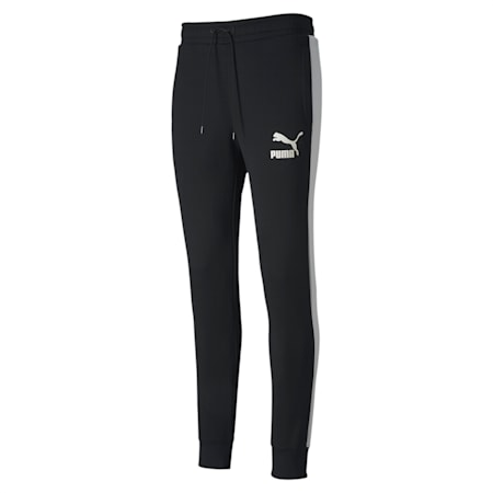 Iconic T7 Knitted Men's Track Pants, Puma Black, small-IND