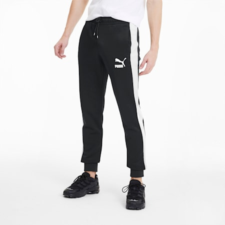 Iconic T7 Knitted Men's Track Pants, Puma Black, small-GBR
