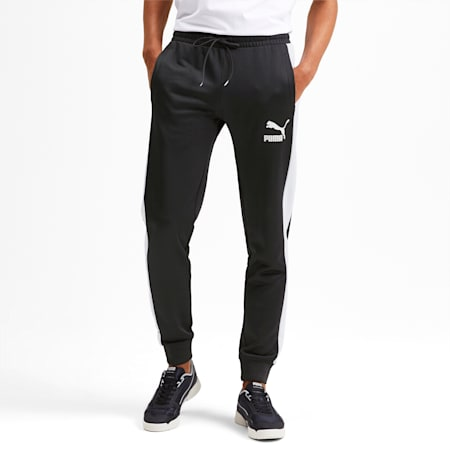 Iconic T7 Knitted Men's Track Pants, Puma Black, small-SEA