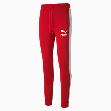 Iconic T7 Knitted Men's Track Pants, High Risk Red, small